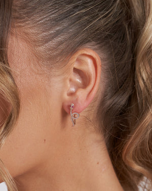 Izoa Boa Earrings Rose Gold
