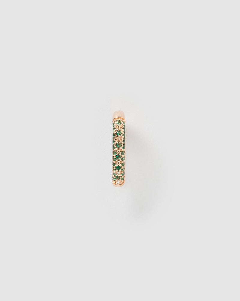 Izoa Cami Ear Cuff Rose Gold Green