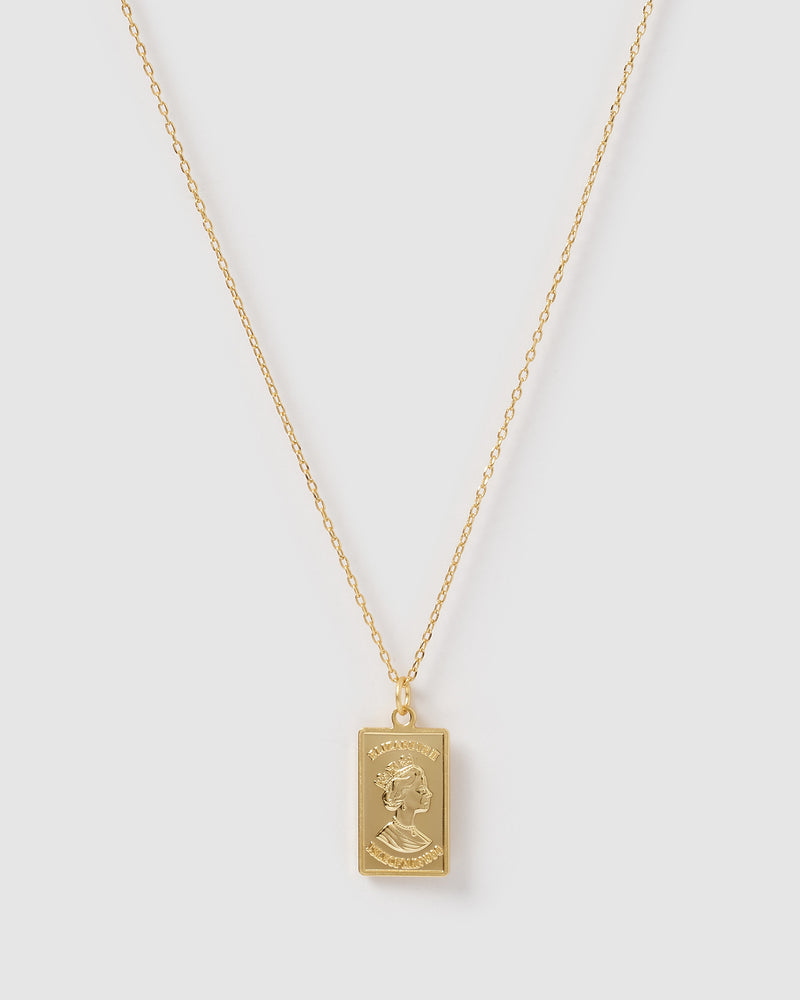 Izoa Charmed Necklace Gold
