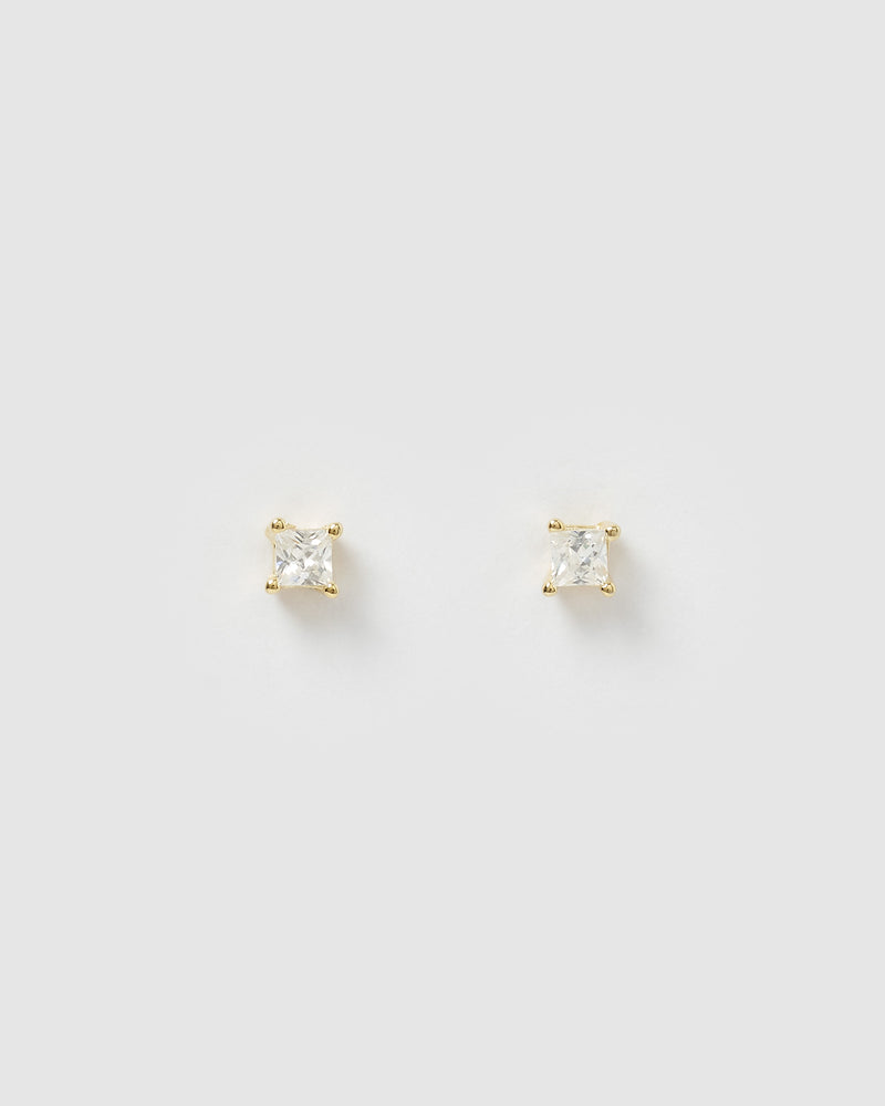 Izoa Dion Mini Stud Earrings Gold