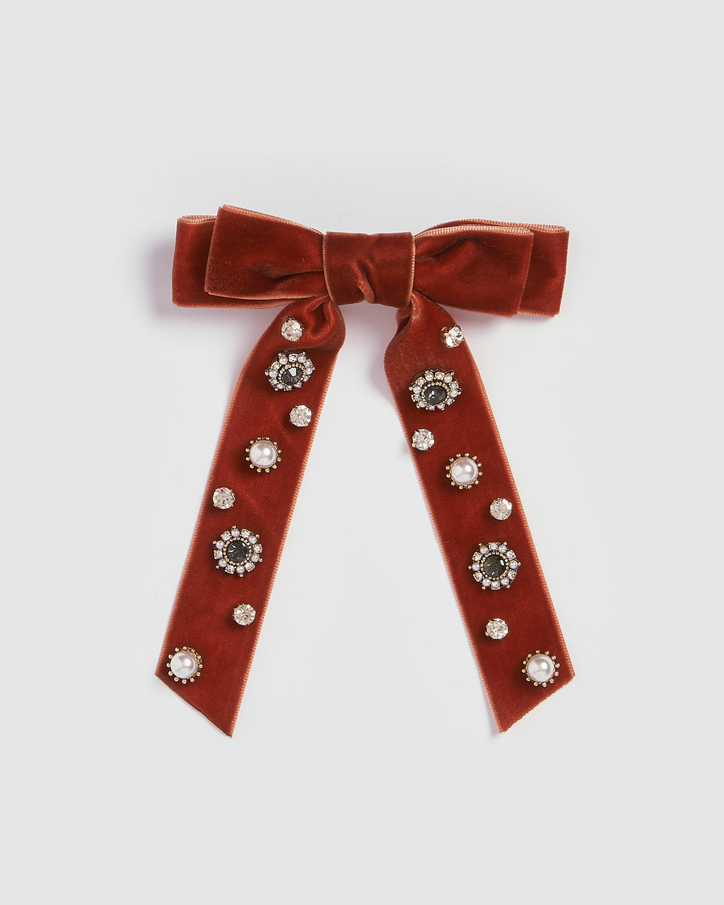 Izoa Elegance Bow Hair Clip Red