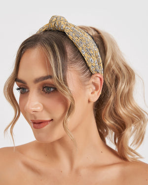 Izoa Gardenia Headband Yellow