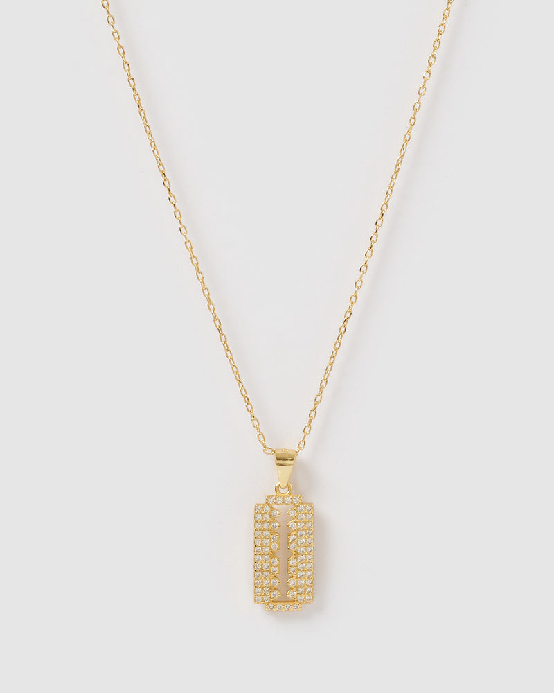 Izoa Golden Necklace Gold