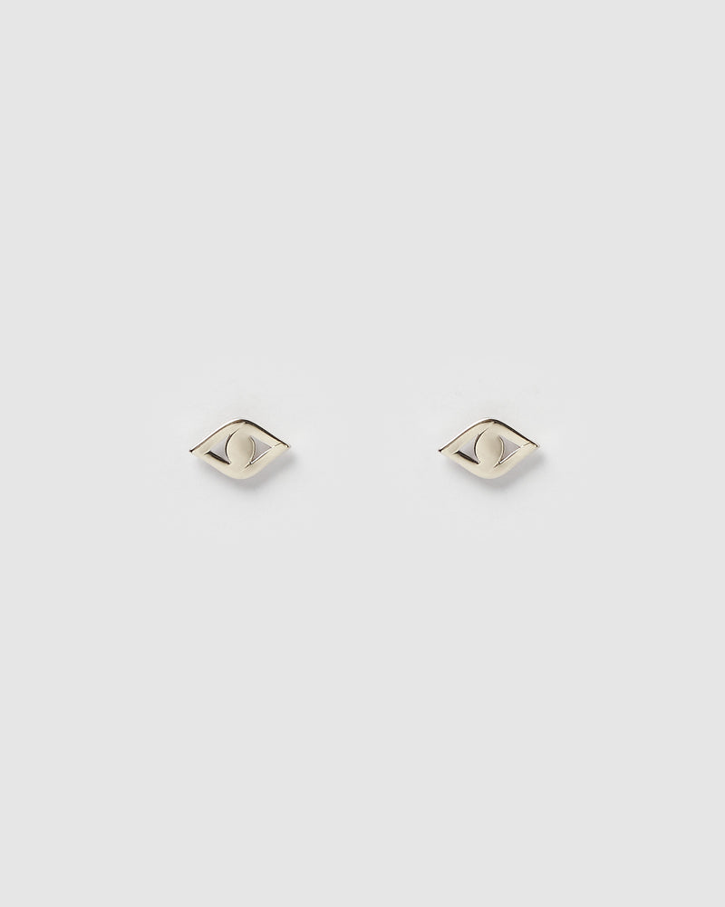 Izoa Horus Mini Stud Earrings Silver