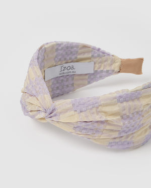 Izoa Hyacinth Headband Purple