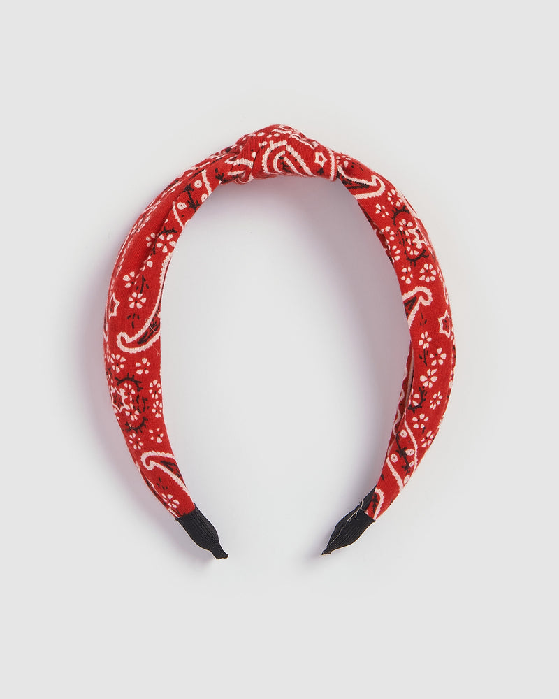 Izoa Indie Headband Red Print