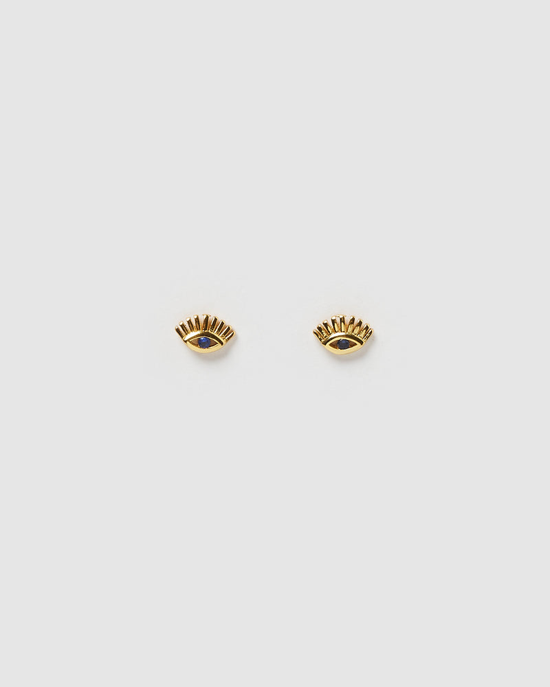 Izoa Ira Stud Earrings Gold