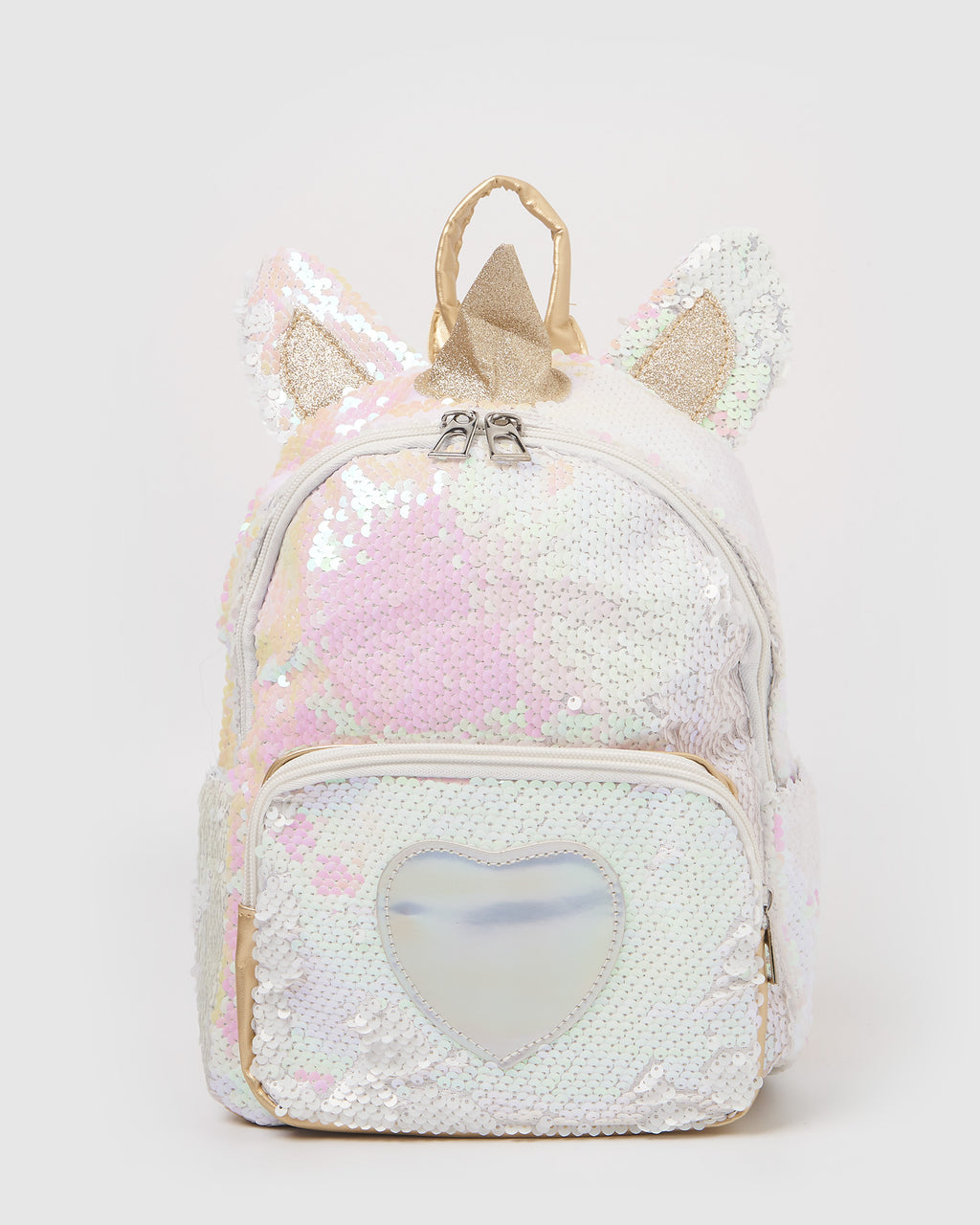 Izoa Kids Love Unicorn Backpack Iridescent Gold