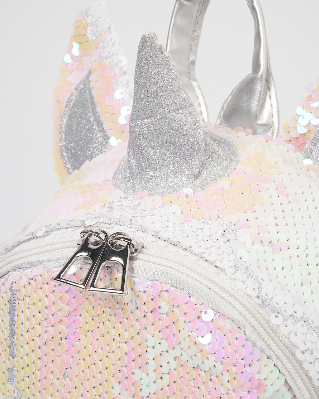 Izoa Kids Love Unicorn Backpack Iridescent Silver
