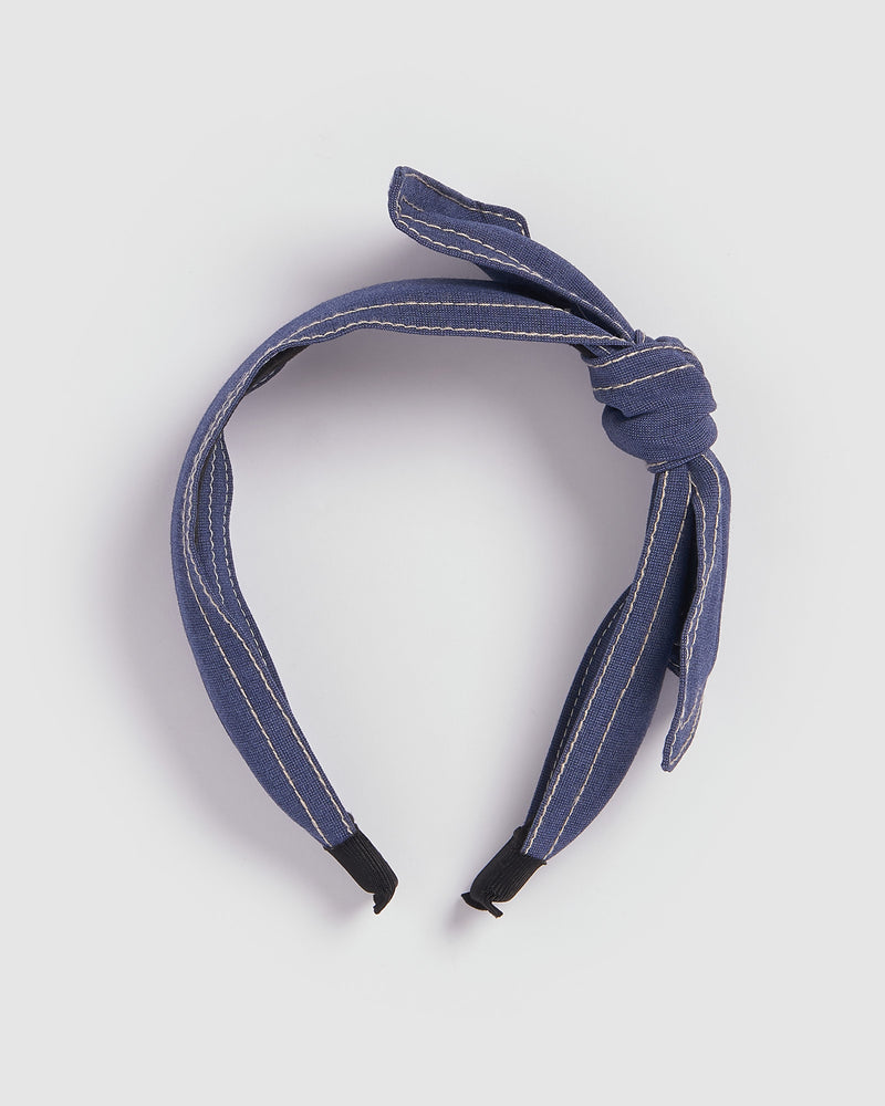 Izoa London Headband Blue