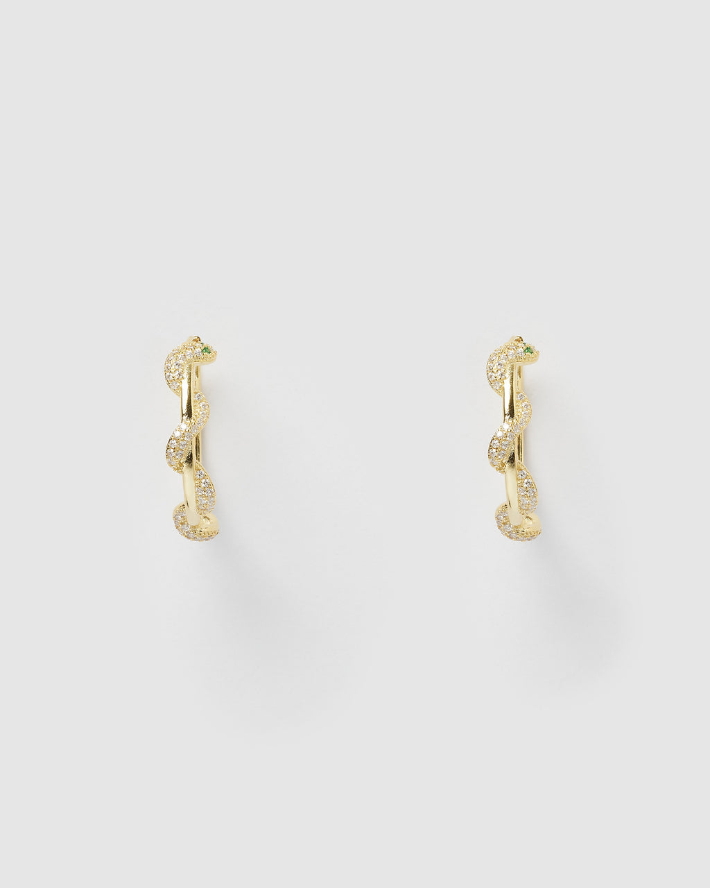 Izoa Medusa Hoop Earrings Gold
