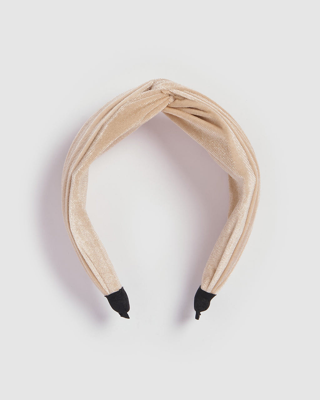Izoa Melbourne Velvet Headband Cream