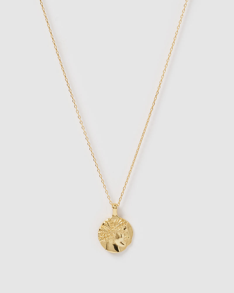 Izoa Mercy Pendant Necklace Gold