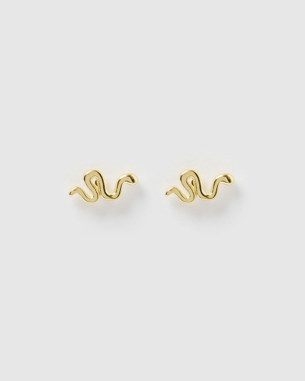 Izoa Mini Ophidian Stud Earrings Gold