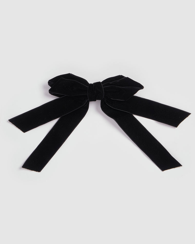 Izoa Paris Bow Hair Clip Black