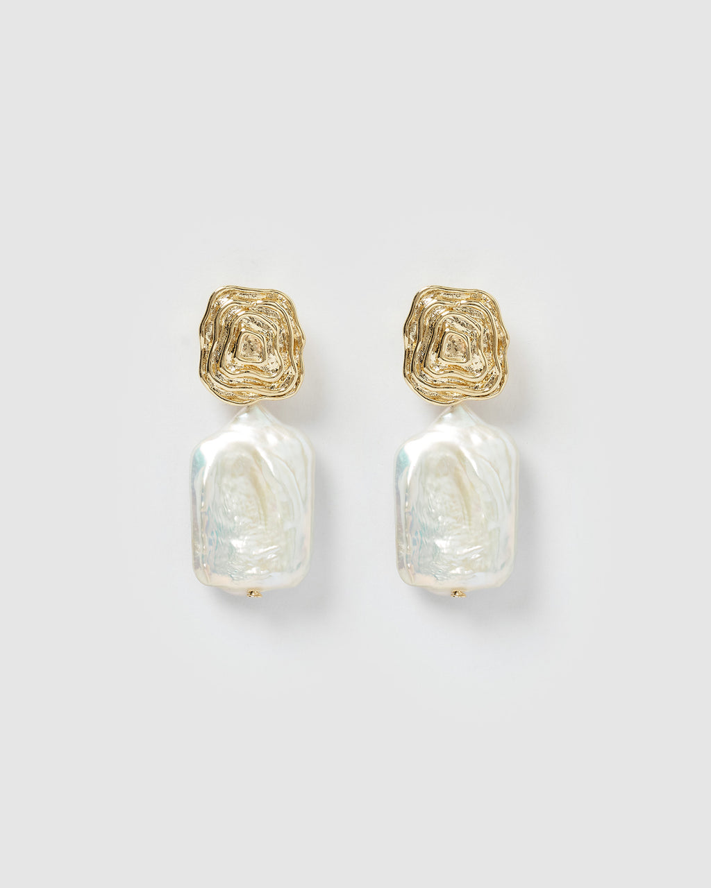 Izoa Prudence Earrings Gold Pearl