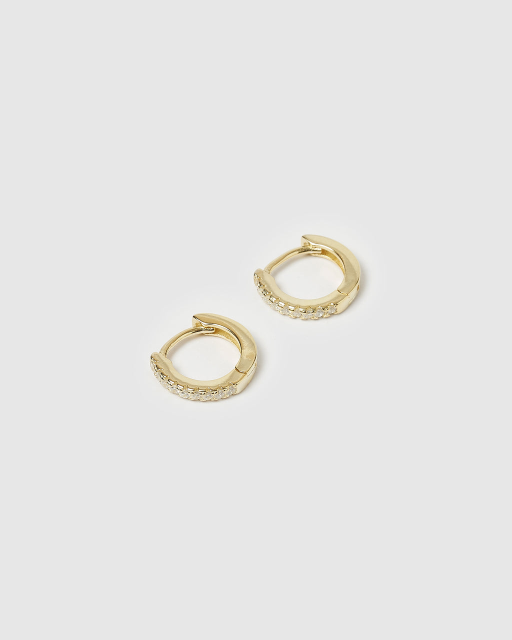 Izoa Rae Mini Huggie Earrings Gold
