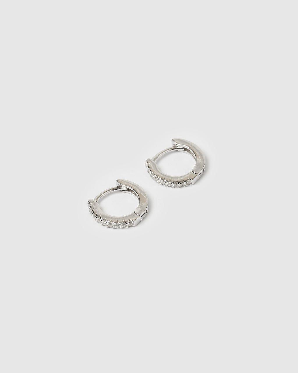 Izoa Rae Mini Huggie Earrings Sterling Silver
