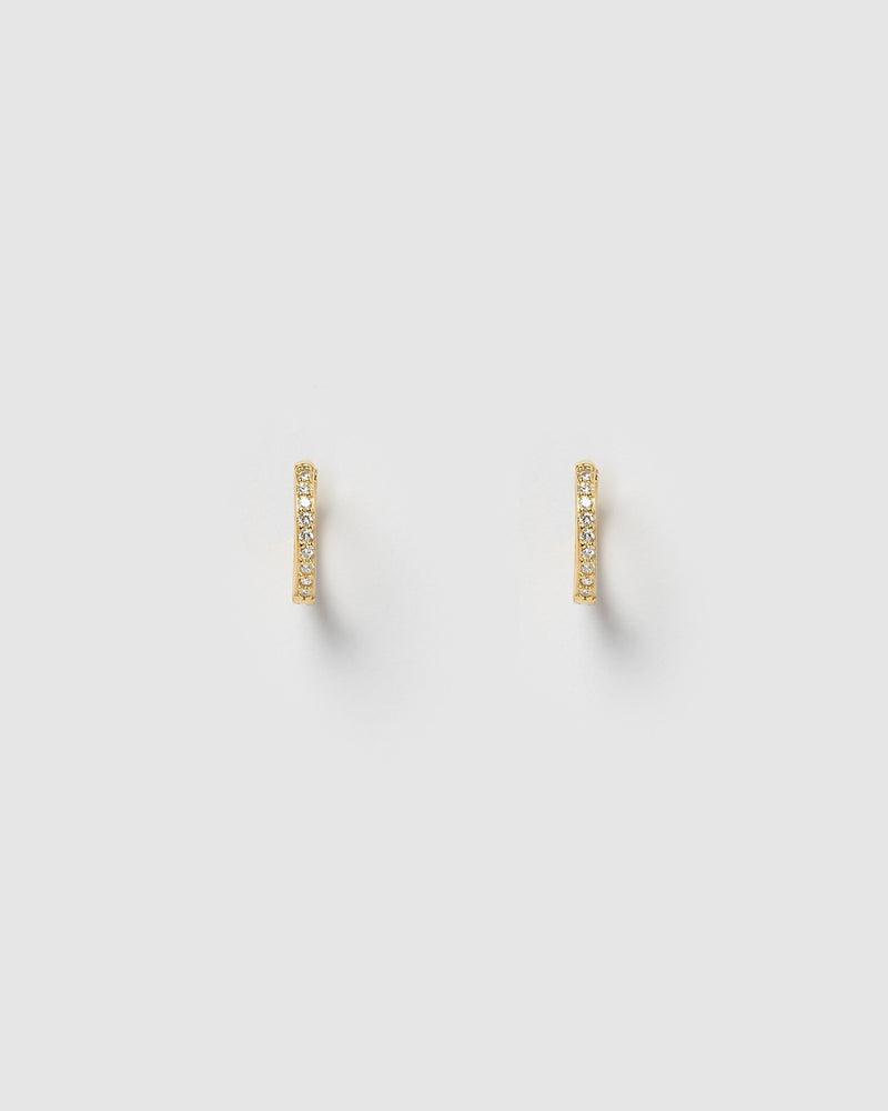 Izoa Remi Huggie Earrings Gold