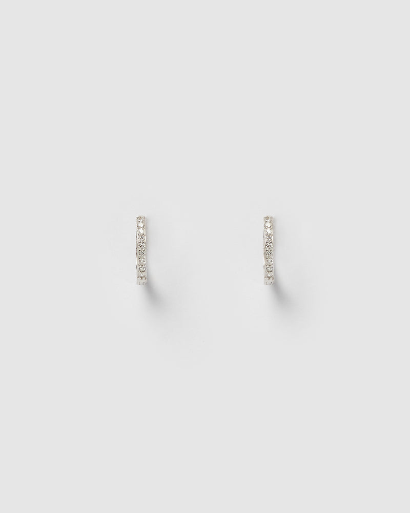 Izoa Remi Huggie Earrings Silver
