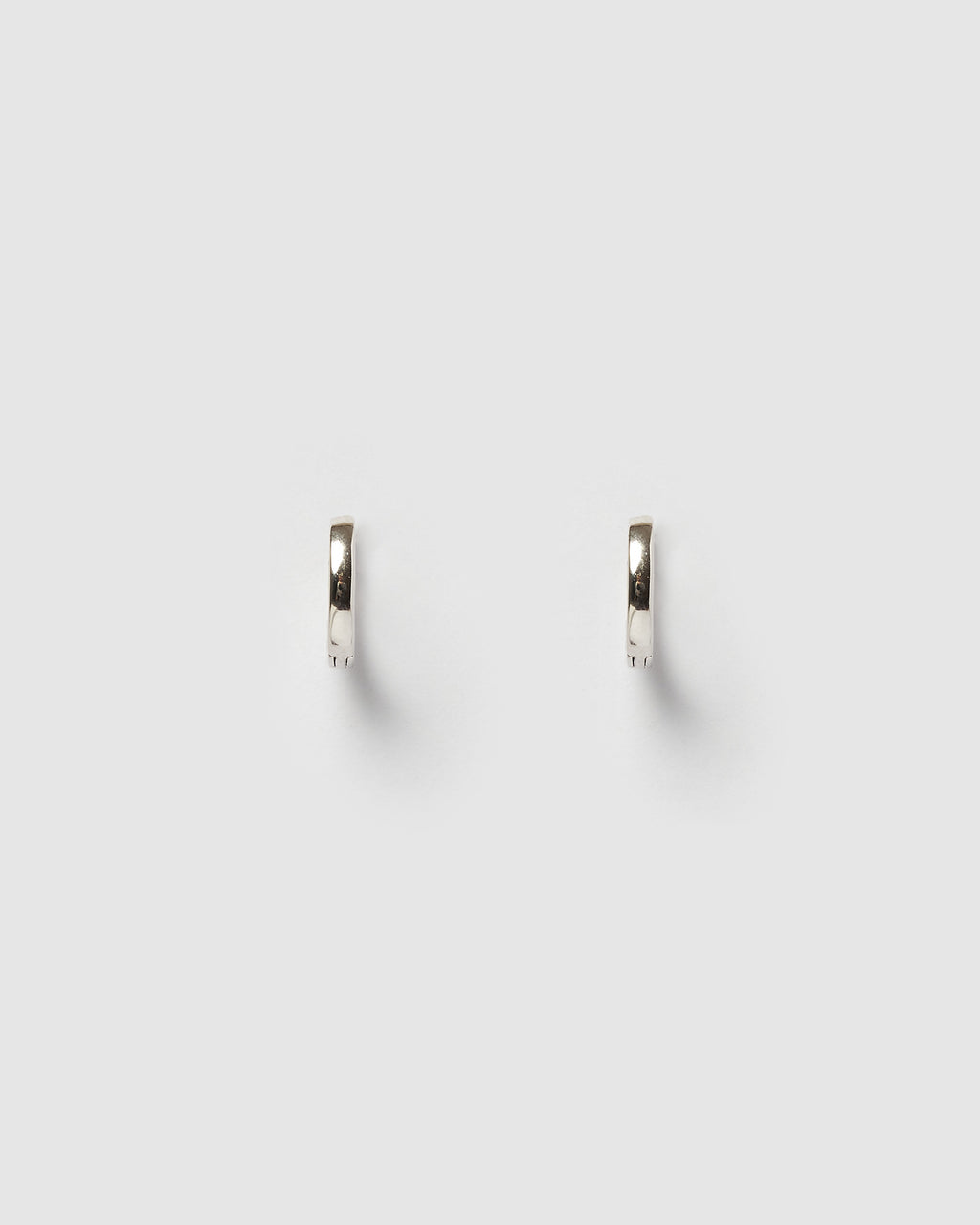 Izoa Solid Huggie Earrings Sterling Silver