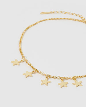 Izoa Star Drop Choker Gold