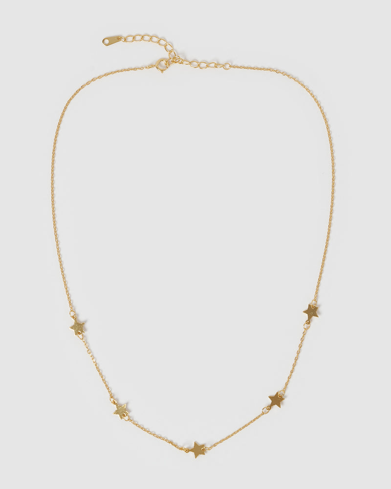Izoa Starlight Choker Necklace Gold