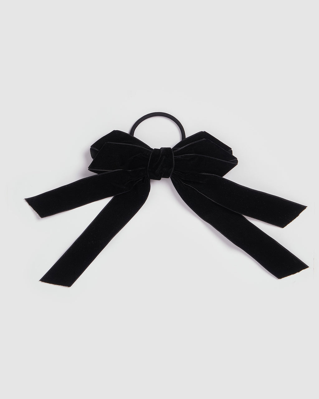 Izoa Sweet Bow Hair Tie Black