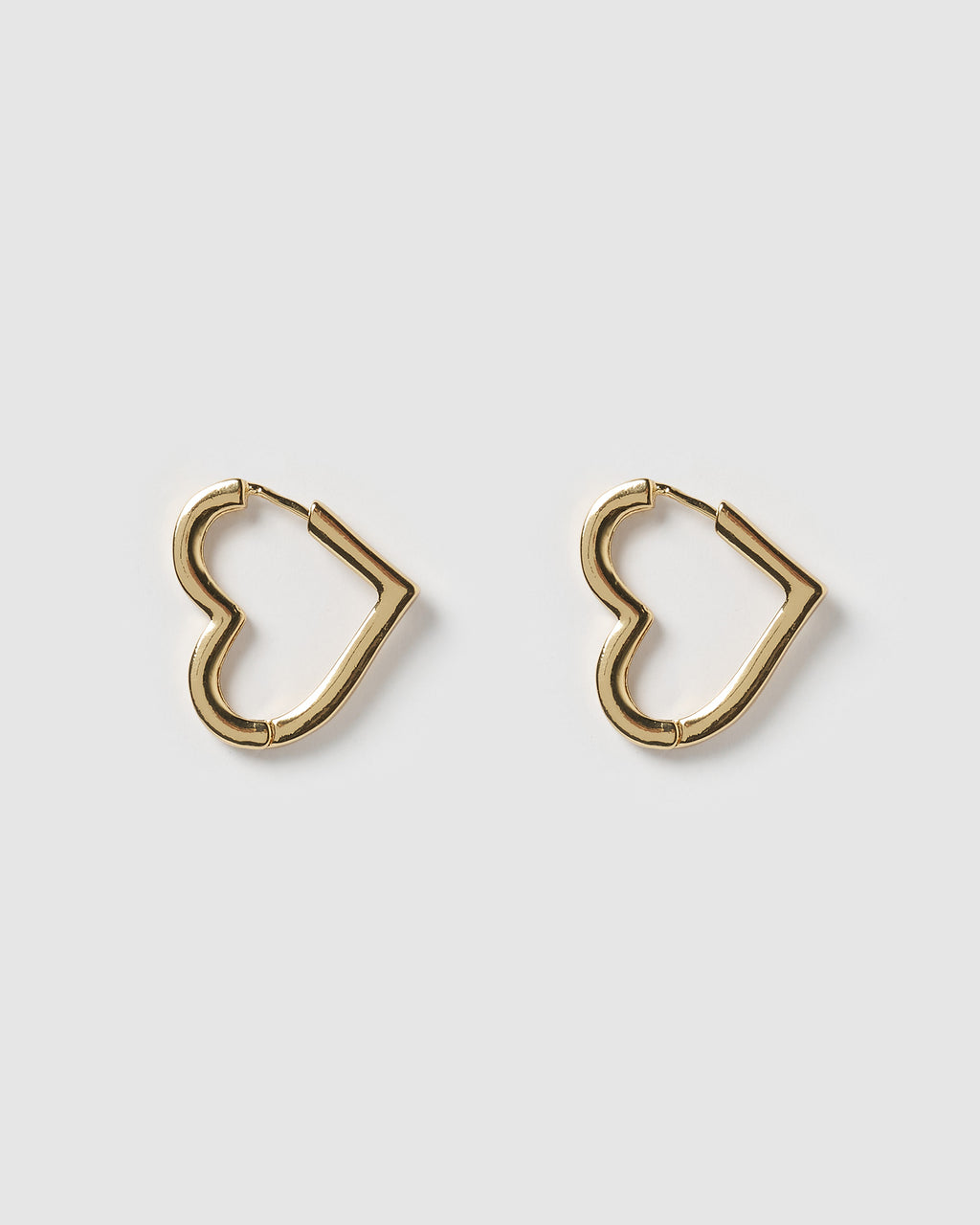 Izoa Zoe Heart Earrings Gold