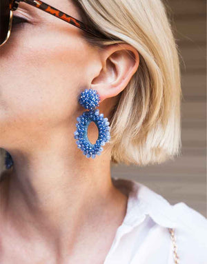 Izoa Jewel Earrings Blue