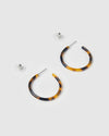 Izoa Jezabel Mini Hoop Earrings Tortoise Shell