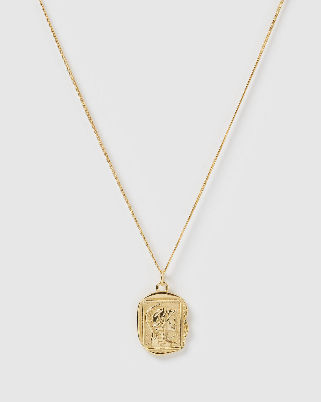 Izoa Julius Coin Necklace Gold
