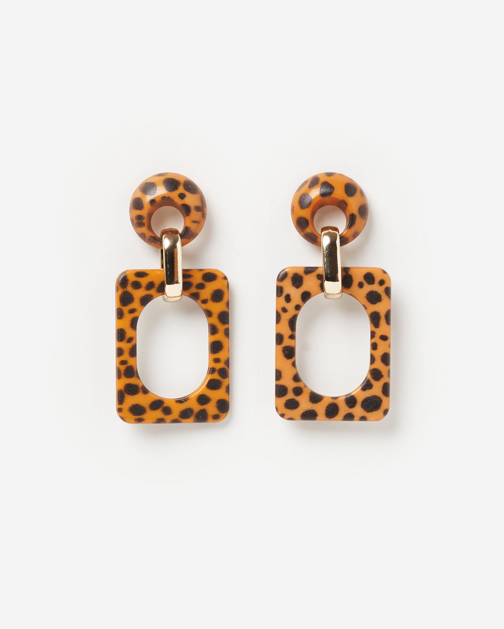 Izoa Jungle Fever Earrings in Leopard