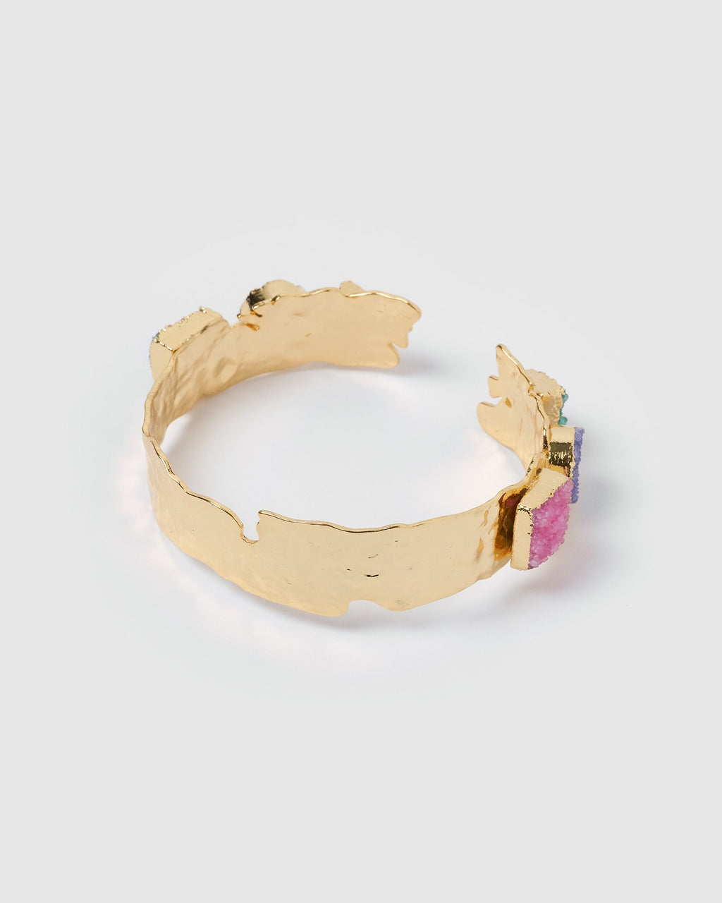 Miz Casa & Co Jauhara Gem Stone Cuff Gold Multi