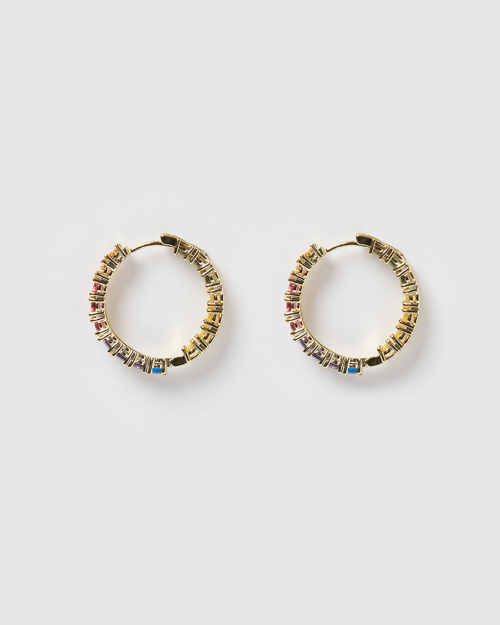 Izoa Jennifer Hoop Earrings Gold Multi