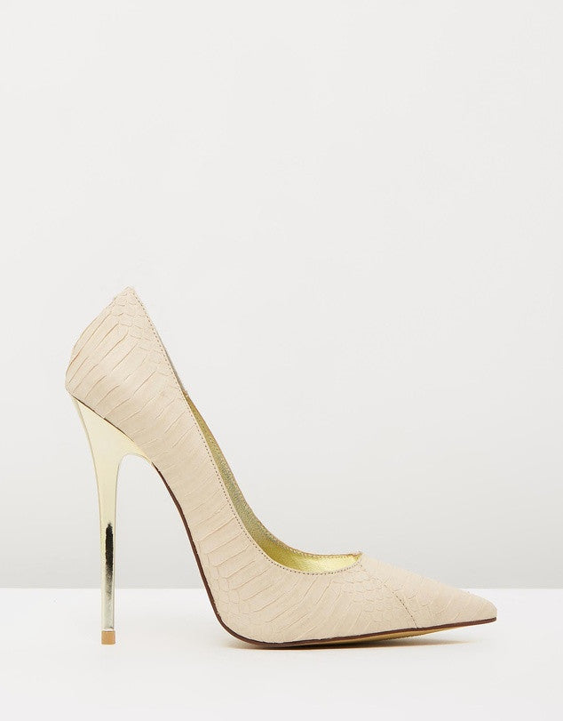 Izoa Khloe Heels Nude Textured (SIZE 35 ONLY)