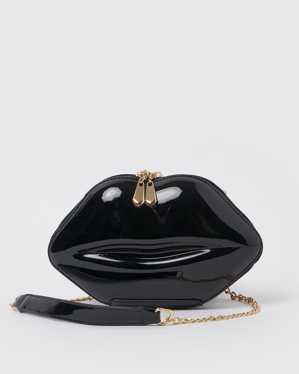 Izoa Kiss and Tell Clutch Bag Black