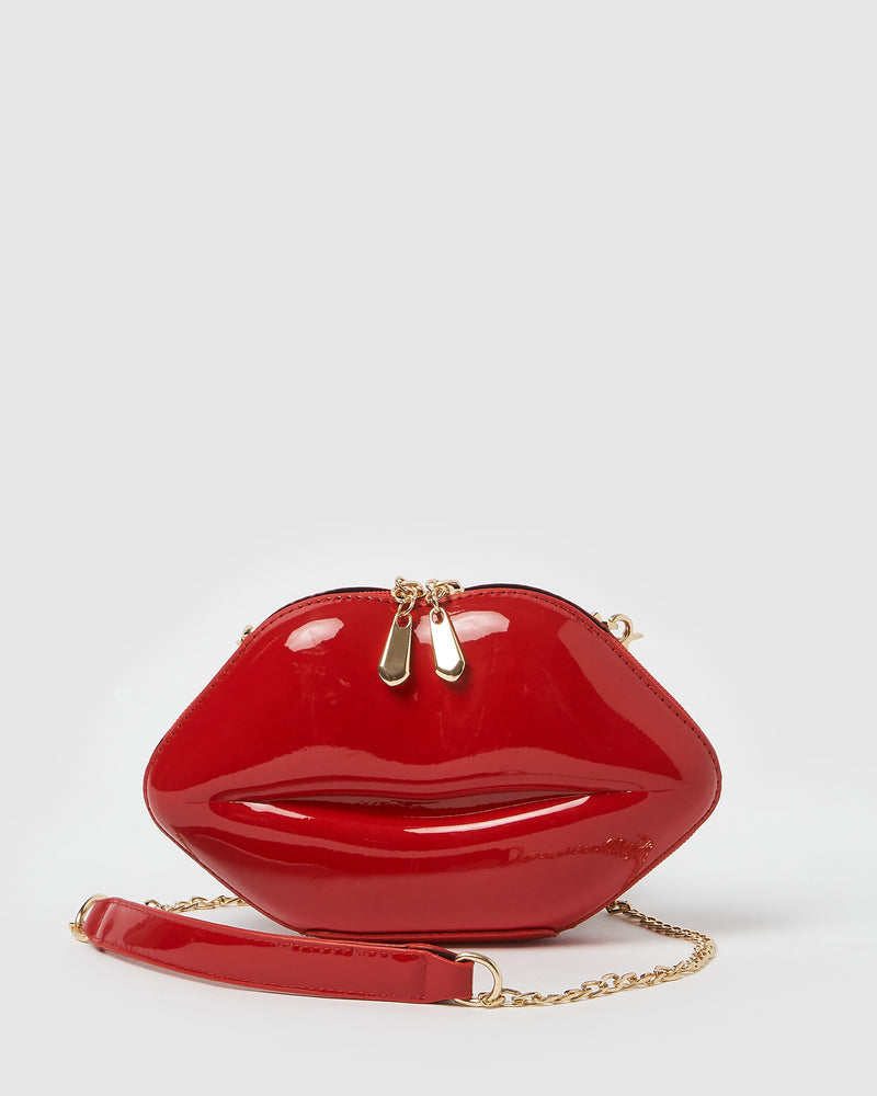 Izoa Kiss and Tell Clutch Bag Red