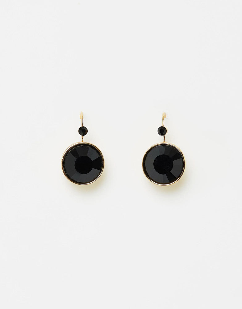 Lady Earrings Gold Black
