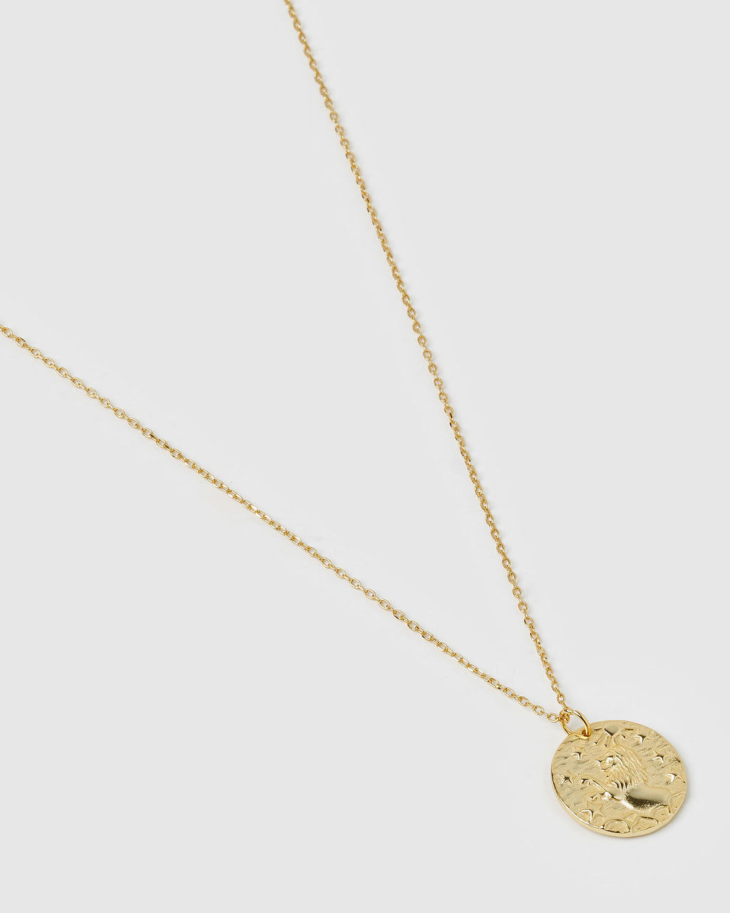 Izoa Star Sign Necklace Leo Gold