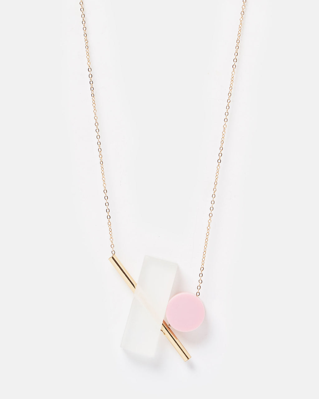 Izoa Liberty Necklace Pink Multi Colour