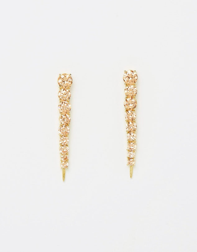 Izoa Limelight Earrings Gold