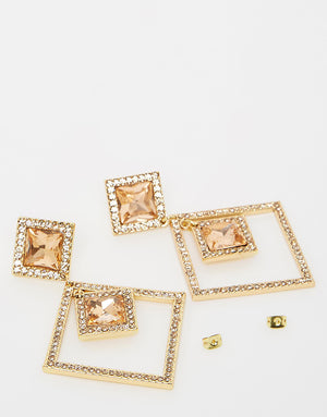 Izoa Linda Earrings Gold