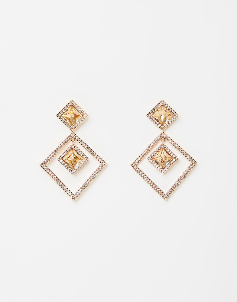 Izoa Linda Earrings Rose Gold