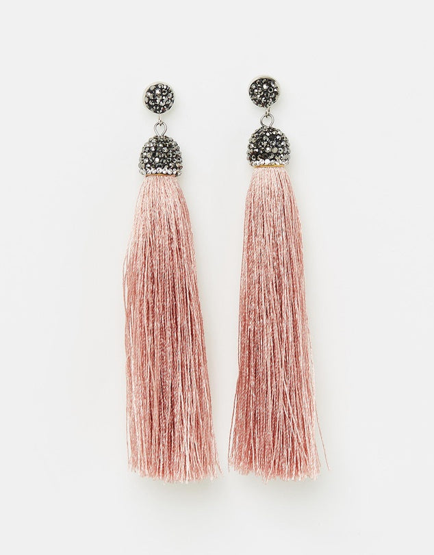 Izoa Loom Earrings Latte