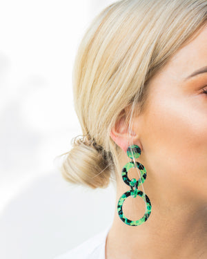 Izoa Lost City Earrings Green
