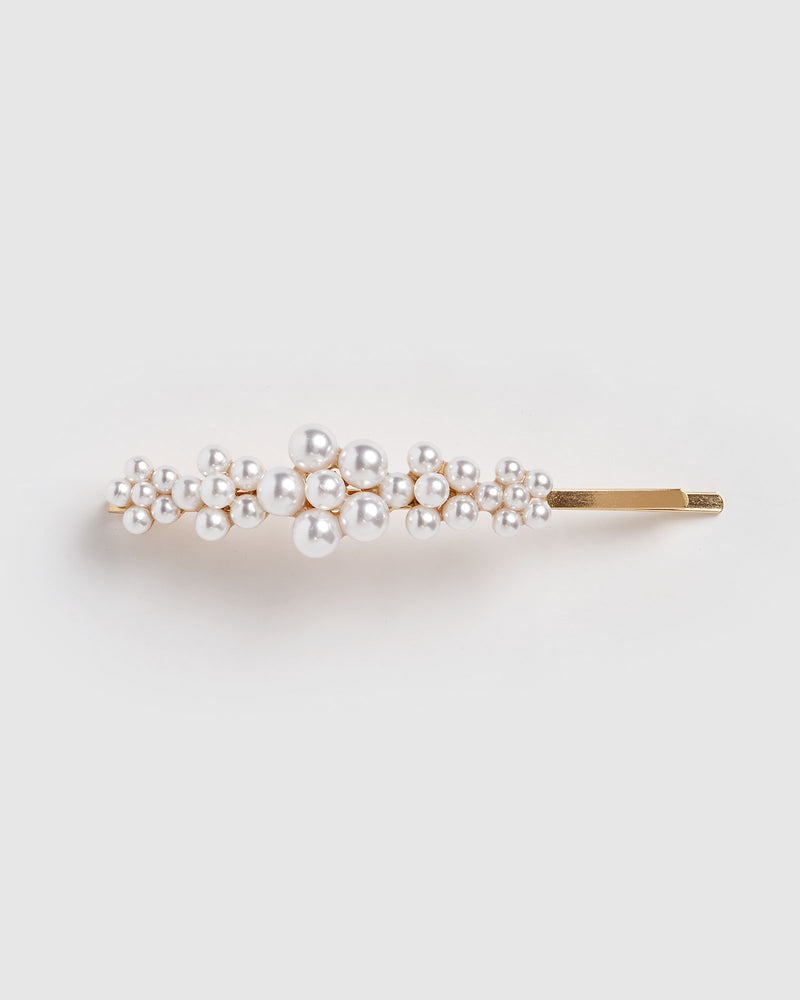 Izoa Lottie Hair Pin Gold Pearl
