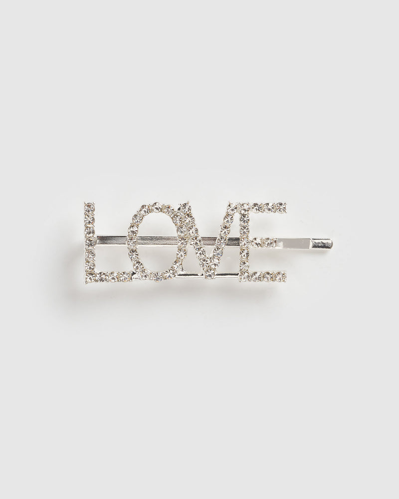 Izoa Love Hair Pin Silver