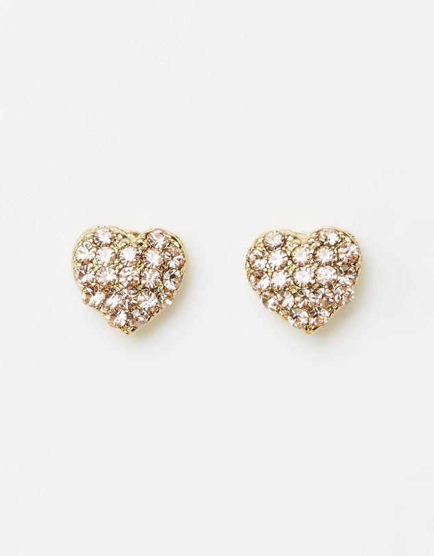 Izoa Love Lust Earrings Gold Peach