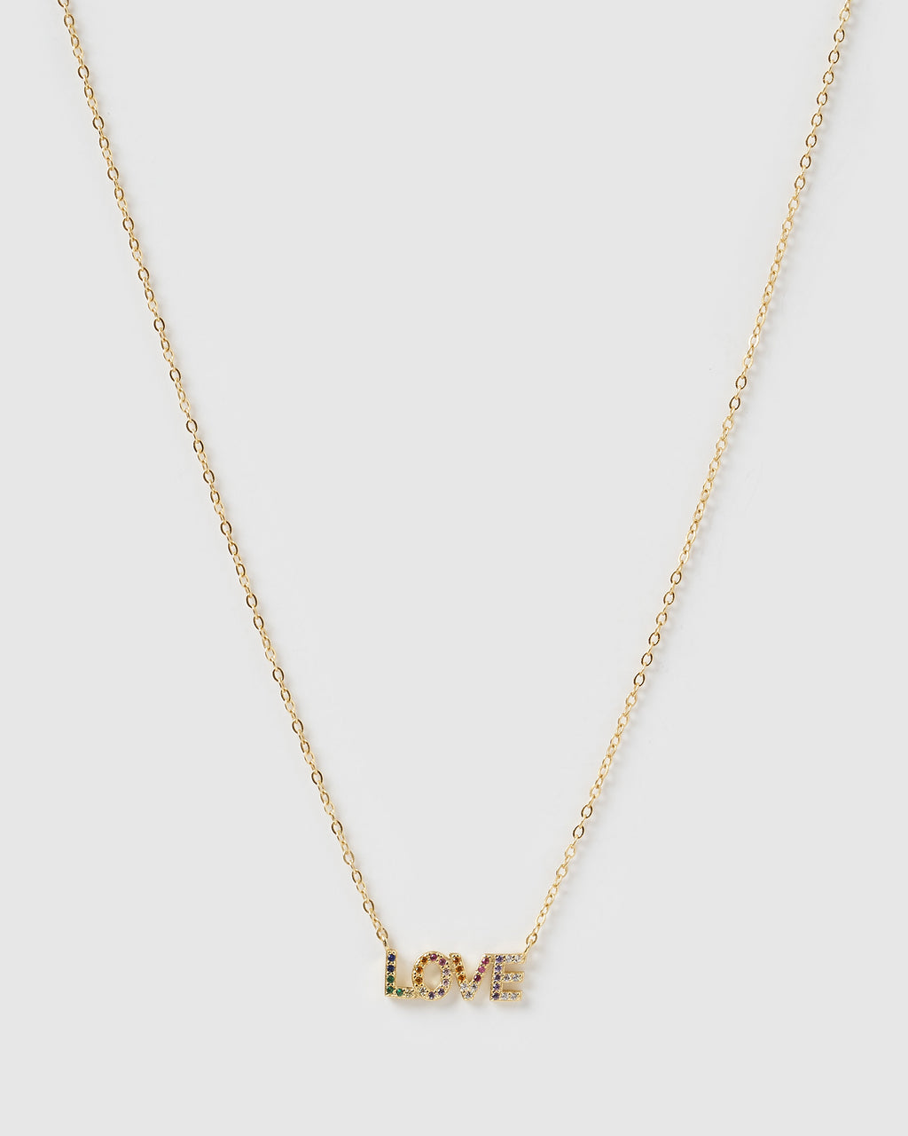 Izoa Love Necklace Gold Multi